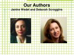 our authors janine wedel and deborah scroggins