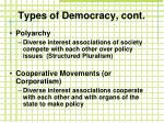 types of democracy cont