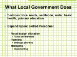 what local government does