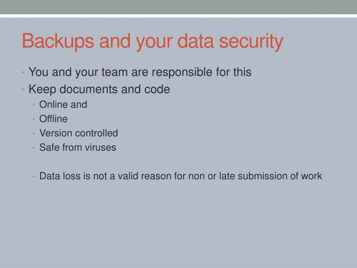 Backups and your data security