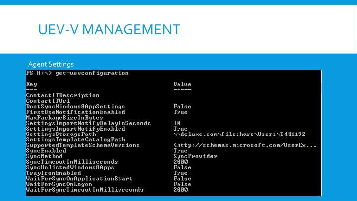 UEV-V Management