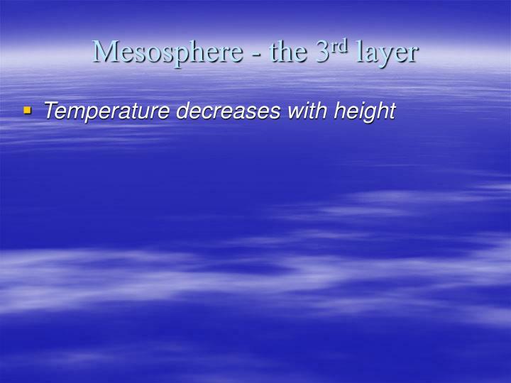 Mesosphere - the 3