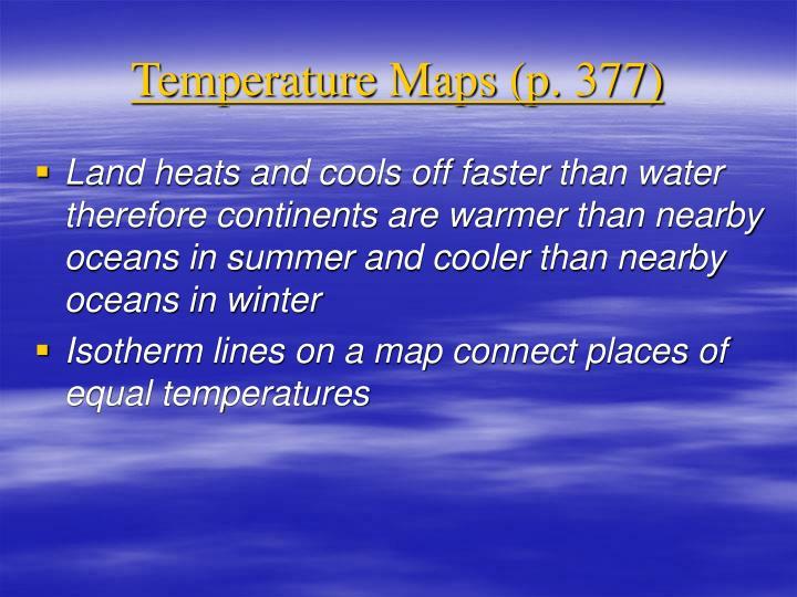 Temperature Maps (p. 377)