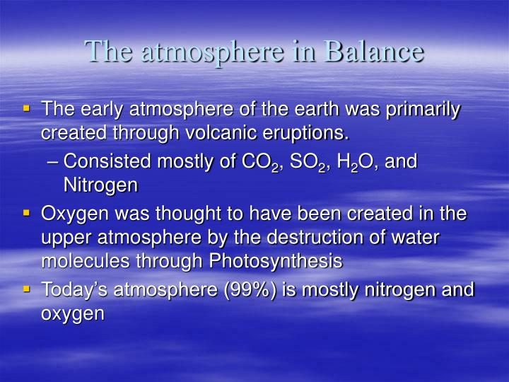 The atmosphere in Balance