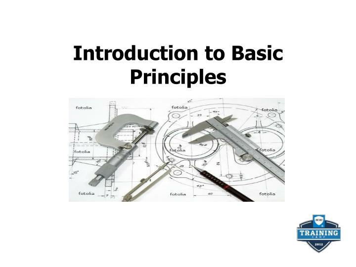 introduction to basic principles n.