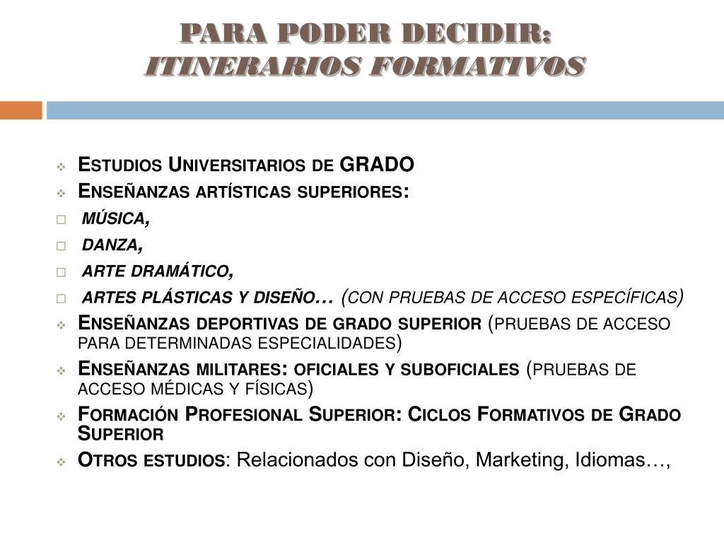 Ppt Orientación De Estudios 2º De Bachillerato Powerpoint