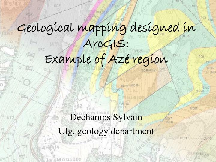 geological mapping designed in arcgis example of az region n.