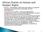 african charter on human and peoples rights
