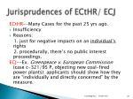 jurisprudences of ecthr ecj