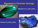 pigments in forensic geology11