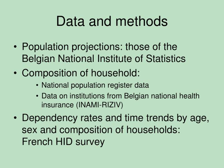 Data and methods