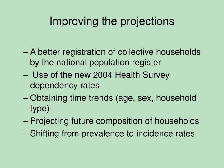 Improving the projections