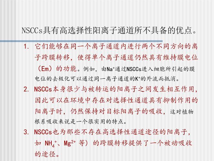 NSCCs