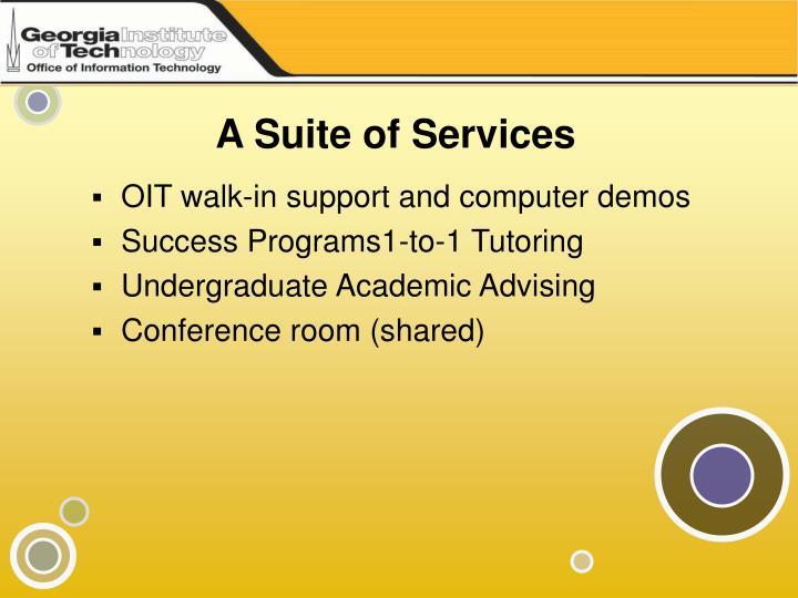 A suite of services