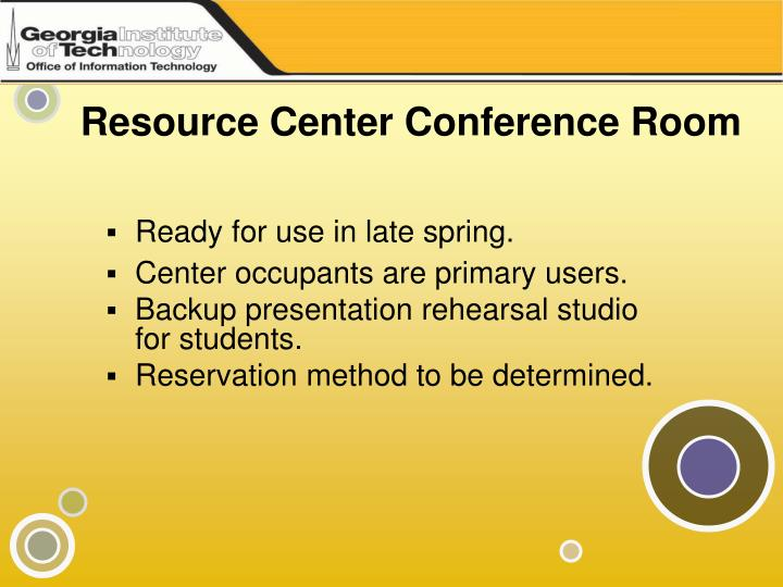 Resource Center Conference Room