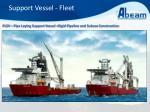 support vessel fleet6
