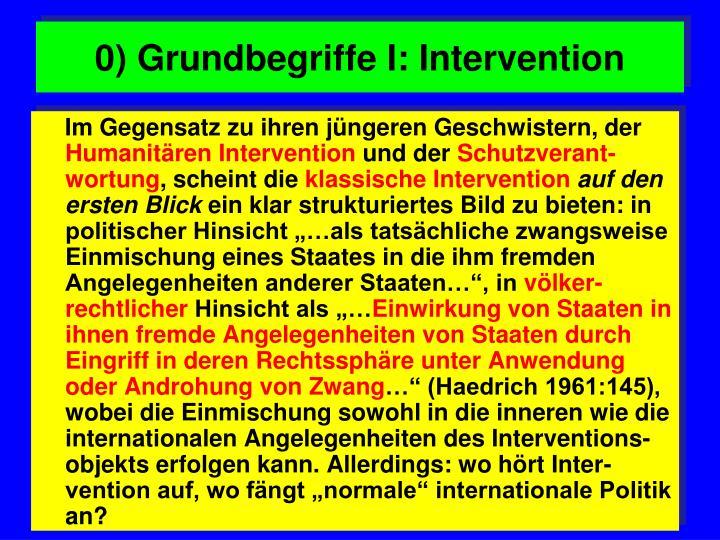 0) Grundbegriffe I: Intervention