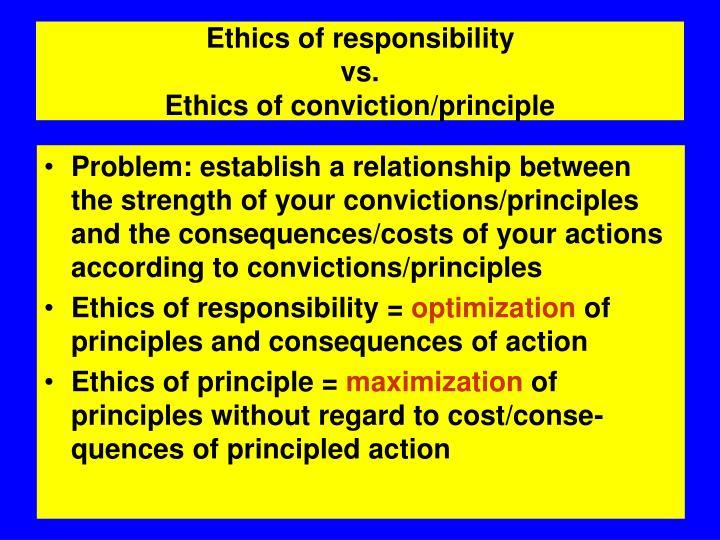 Ethics of responsibility