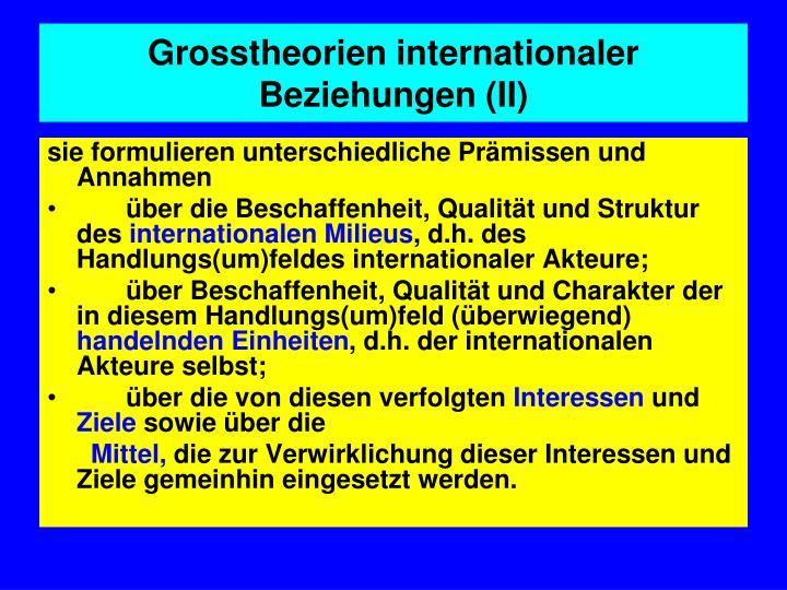 Grosstheorien internationaler Beziehungen (II)