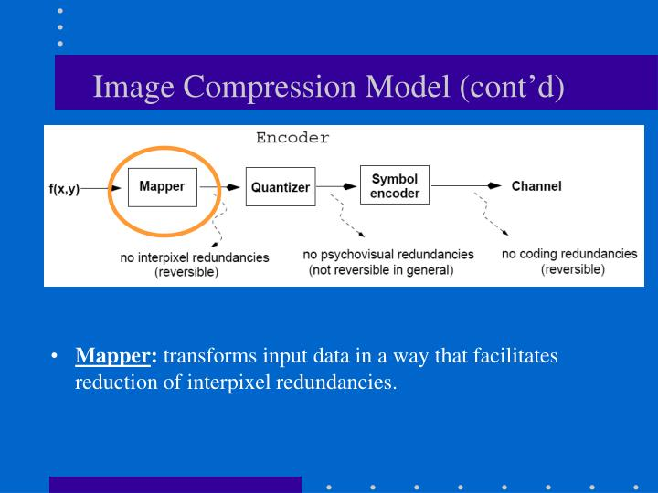 Image Compression Model (cont'd)