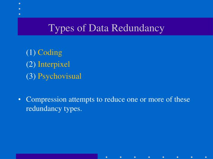 Types of Data Redundancy
