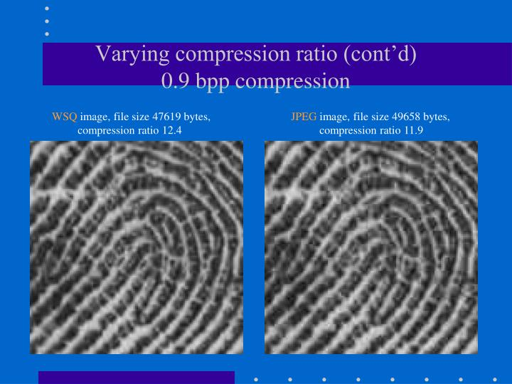 Varying compression ratio (cont'd)