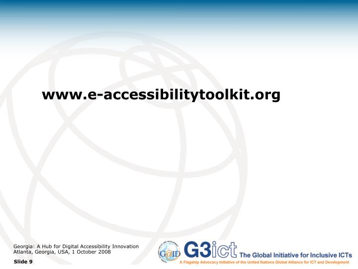 www.e-accessibilitytoolkit.org