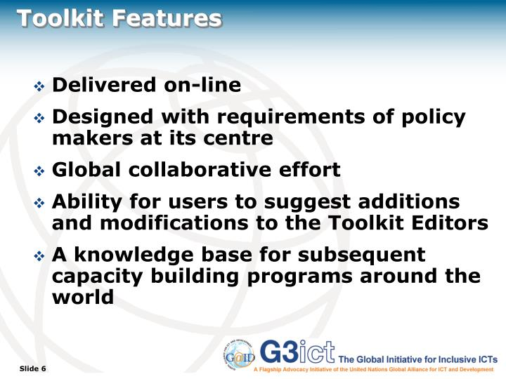 Toolkit Features