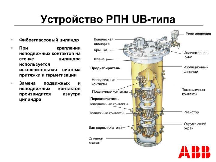 Устройство РПН