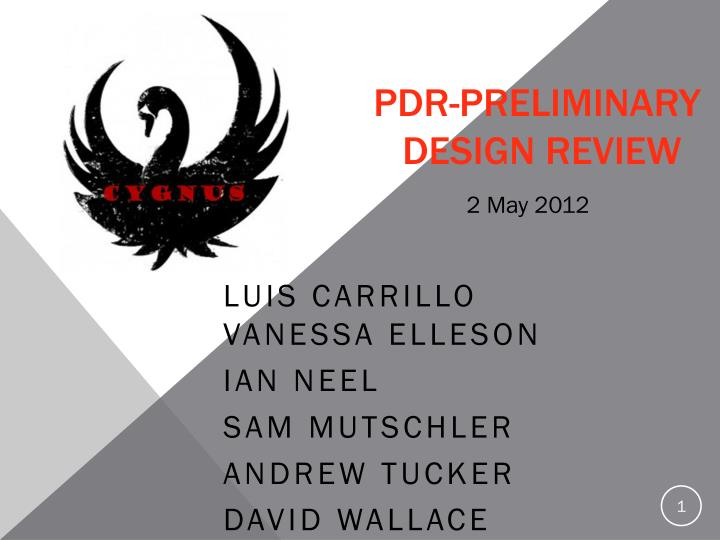 pdr preliminary design review n.