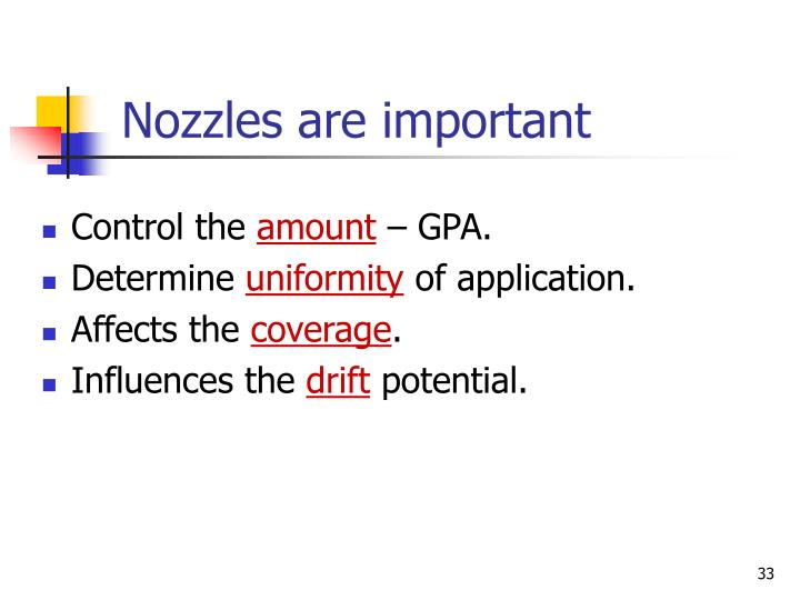 Nozzles are important