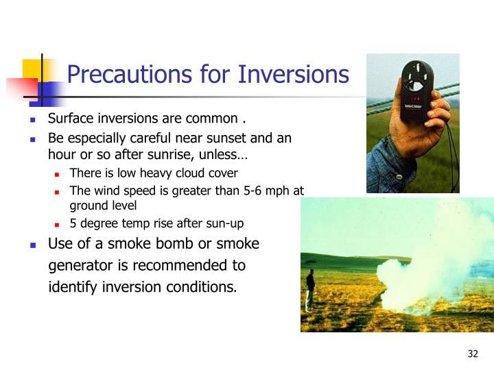 Precautions for Inversions