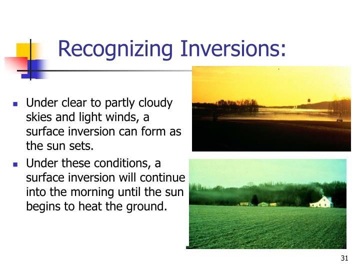 Recognizing Inversions: