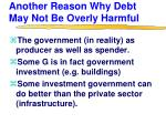 another reason why debt may not be overly harmful