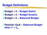 budget definitions