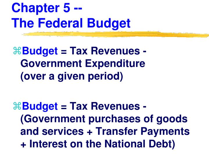 chapter 5 the federal budget n.
