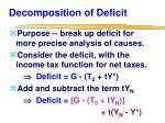 decomposition of deficit