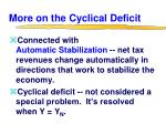 more on the cyclical deficit