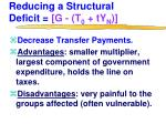 reducing a structural deficit g t 0 ty n1