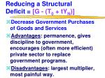 reducing a structural deficit g t 0 ty n2