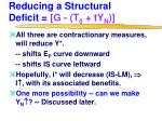 reducing a structural deficit g t 0 ty n3