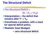 the structural deficit