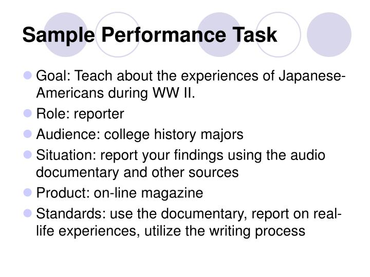 documentary report sample