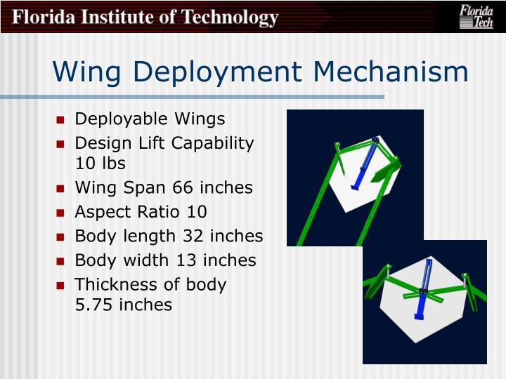 Wing Deployment Mechanism