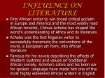 influence on literature