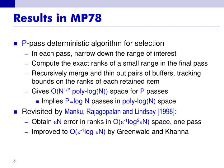 Results in MP78