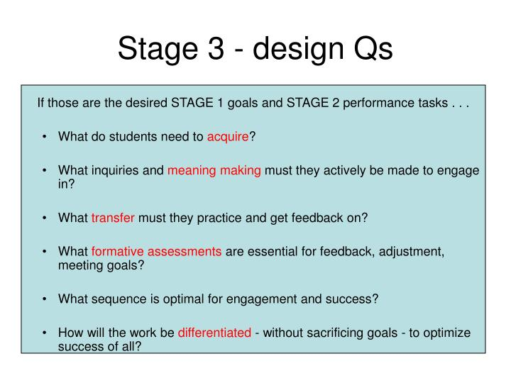 Stage 3 - design Qs