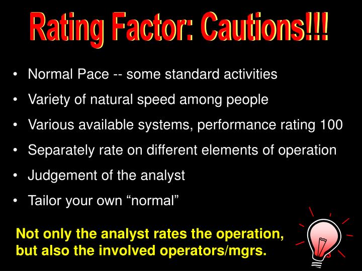 Rating Factor: Cautions!!!
