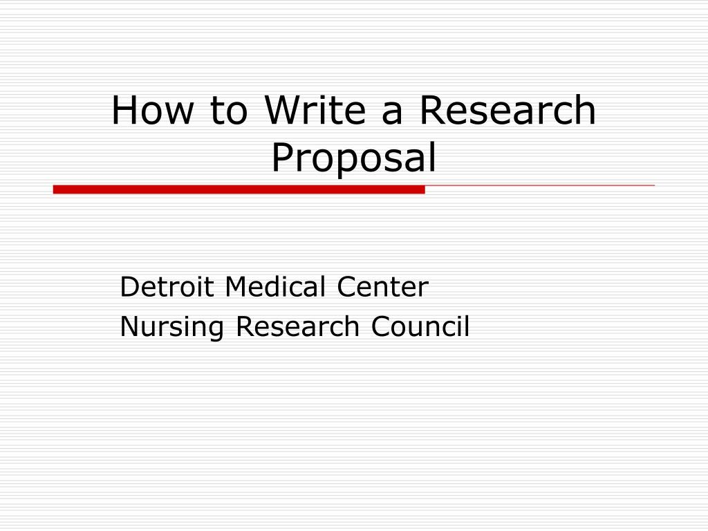 research proposal in nursing