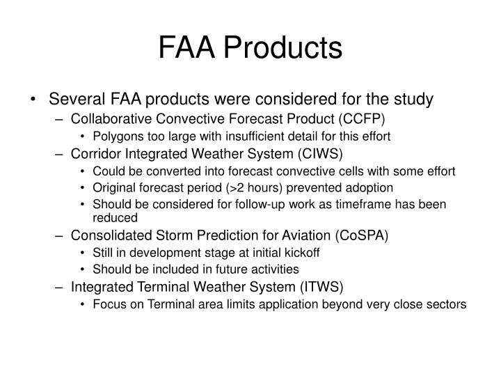 FAA Products